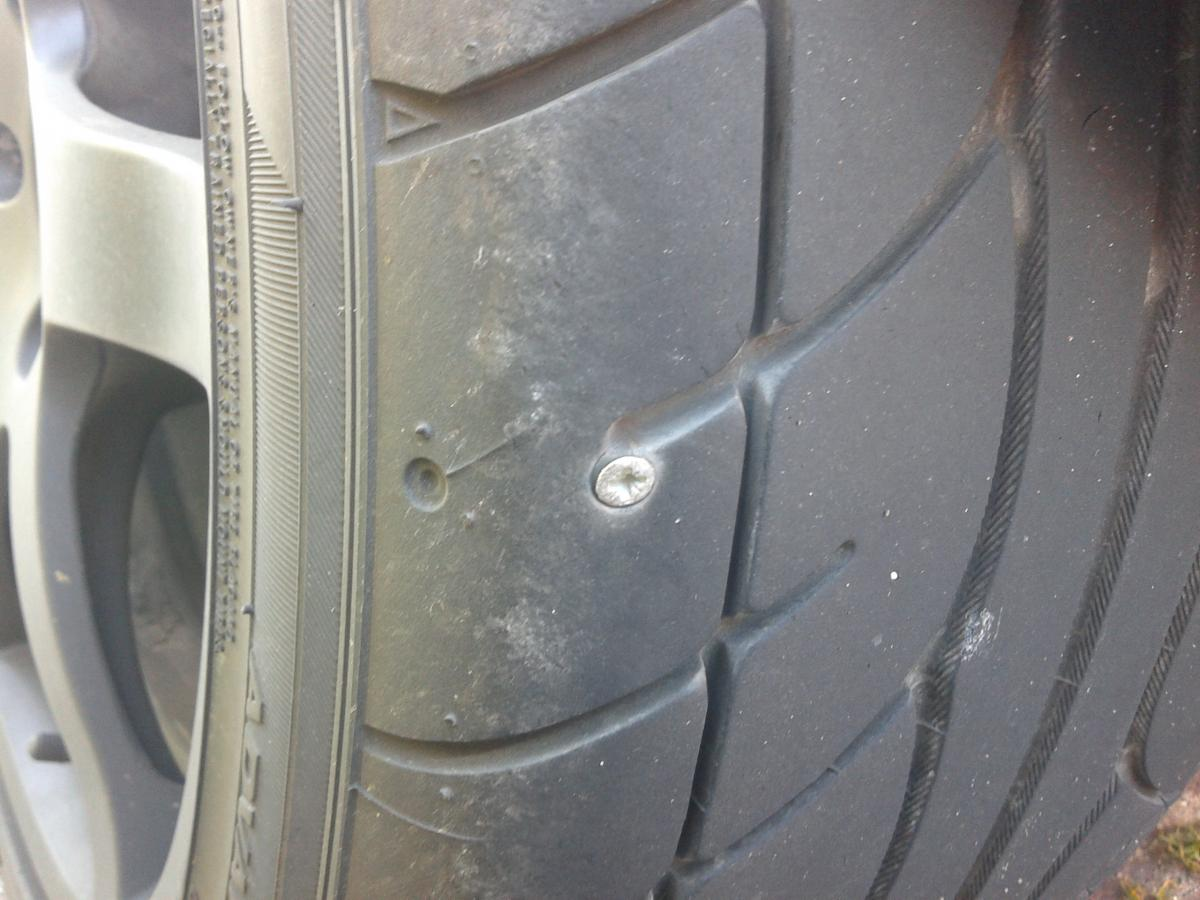 Screw In Tyre - Fix Or Replace? - General Talk - Midlands ...